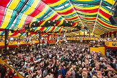 MUNICH - SEPTEMBER 30: The Hippodrom Beer Tent on the Theresienwiese Oktoberfest fair grounds Septem