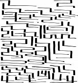 Labyrinth Vector Seamless Illustration Handmade By Ink