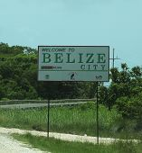 Welcome to Belize City sign