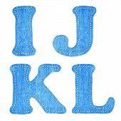 Alphabet  Blue Jean