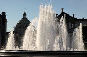 Fountains In Front Of Amalienborg Palace