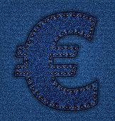 Jeans alphabet euro sign