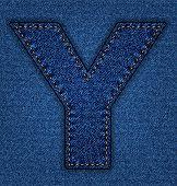 Jeans alphabet letter Y