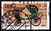 Postage Stamp Gdr 1976 Coach, Court Landau, Saxony, 1840