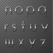 Glass ABC collection - lowercase version- part 4