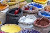Sacks With Paint Pigment