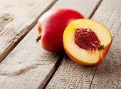 Ripe Nectarines Sliced