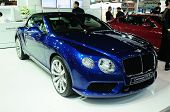 Bkk - Nov 28: Bentley Continental Gtc V8, Luxury Car,on Display At Thailand International Motor Expo