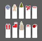 Christmas sticker concepts in editable vector format