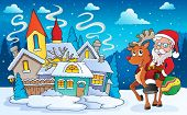 Winter scene with Christmas theme 5 - eps10 vector illustration.