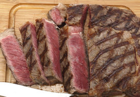 stock photo of wagyu  - High angle view of a partly - JPG