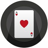 Simple Ace of hearts card illustration