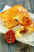 Puff Pastry With Cheese And Sun-dried Tomato.