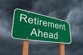 Retirement Ahead Sign