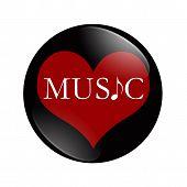 I Love Music Button