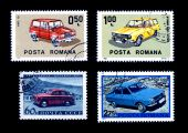Old Cars On Postage Stamps Soviet