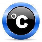 celsius blue glossy icon