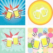 give a toast of beer graphic