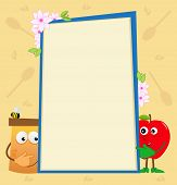 Honey and Apple Vertical Banner