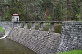 Old stone dam on the river Zelivka, Czech Republic