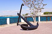 anchor on a seafront