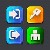 Login web icons collection. Vector illustration.