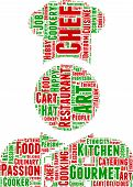 chef pictogram vector tag cloud