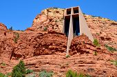 pic of chapels  - The Chapel of the Holy Cross is a Roman Catholic chapel built into the buttes of Sedona - JPG