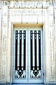 stock photo of tyranny  - Massive doors fead into the Department of Justice in Washington DC - JPG