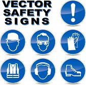 Vector Safety Signs