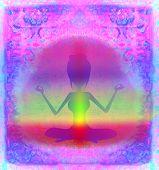 picture of padmasana  - Yoga lotus pose - JPG