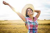 Joyful Female Farmer Success In Agriculture Business