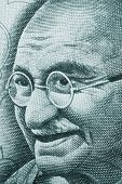 Mahatma Gandhi portrait on rupee note