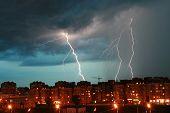 Lightning Over The City