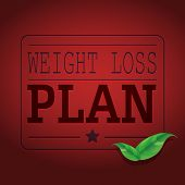 Weight Loss Plan Red Shinny Poster