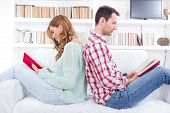 Couple At Home Reading Book