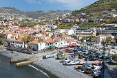 Harbor With Tourists And Fishing Ships At Funchal, Portugal