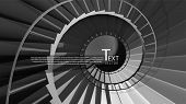 Vector round stairs