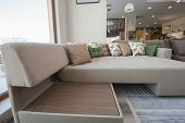 Large Sofa In Furniture Showroom