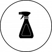 trigger sprayer bottle symbol
