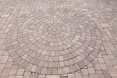Ornamental Pattern In Patio Paving