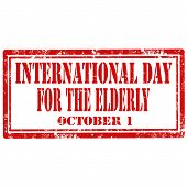 International Day For The Elderly-stamp
