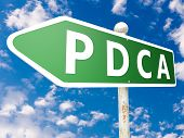stock photo of plan-do-check-act  - PDCA  - JPG