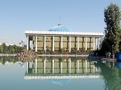 Tashkent Majlis With Its Reflection In A Pond 2007