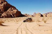Safari In Wadi Rum Desert, Jordan.