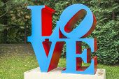 Sculpture Love By American Artist Robert Indiana