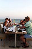 Family In The Beach Restaurant