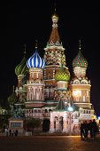 St.basil's Cathedral In Night. Moscow, Russia