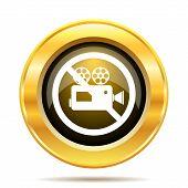 Forbidden Video Camera Icon