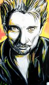 Graffiti Johnny Hallyday Portrait